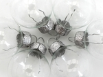 3cm Bauble Ornament (Clear) (x6)