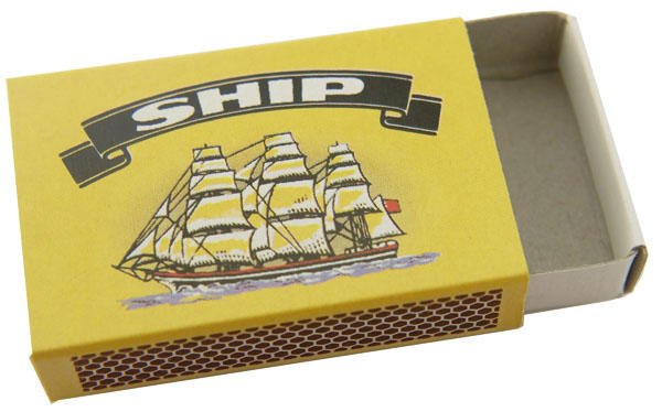 Empty Ship Matchbox Does Not Contain Matches