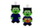 Halloween Frankenstein Earring