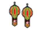 Santa Hot Air Balloon Earring