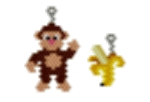 monkey and banana earring bead pattern by threadabead