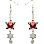 Santa Star Dangly Earring