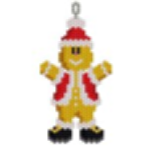 Santa Gingerbread Man Pendant