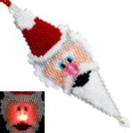 Light Up Santa Ornament