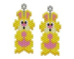 Yellow Rabbit Earring