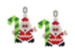Santa and Candy Cane Earring