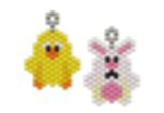 Mini Chick and Rabbit Earring