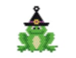 Frog in Witches Hat Pendant