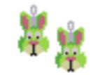 Green Rabbit Earring