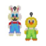 Bunny and Chick in Dungarees Earring
