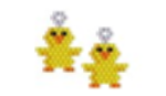 Chick Earring (Free Pattern of the Month March 2014)