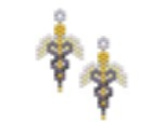 Small Caduceus Nurse Earring