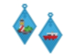 Lighthouse and Boat Earring