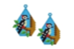 Wood Pecker Earring