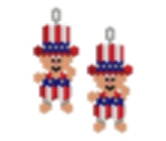 4th July Uncle Sam Baby Earring