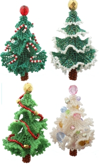 3d Beadwork Christmas Tree Ornament Bead Pattern By