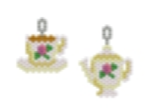 Tea Cup and Teapot Earring