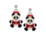 Mini Santa Panda Earring