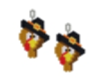 Thanksgiving Turley Head Earring