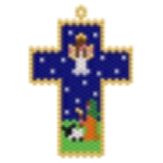 Shepard and Angel Gabriel Cross Pendant