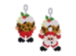 Santa Lifting Christmas Pudding Earring