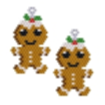 Gingerbread Man Earring