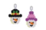 Snow People Earring