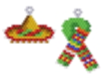Mexican Hat and Scarf Earring