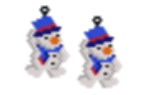 Hang onto your Hat Snowman Earring