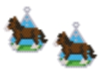 Shire Horse Earring