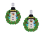 Snowman Wreath Earring