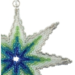 3D Beaded Peyote Ombre Star Ornament Pattern