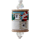 Advent Calendar Wood Spool Ornament