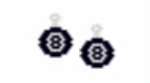 Magic 8 Ball Earrings
