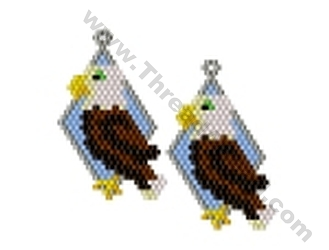 Eagle Earring Bead Pattern By Threadabead