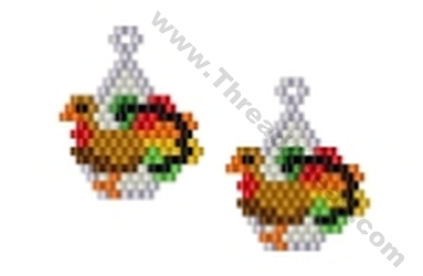 Turkey Earring Bead Pattern By Threadabead