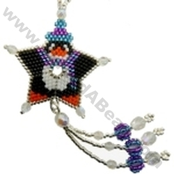 Penguin Shooting Star Ornament Bead Pattern By Threadabead