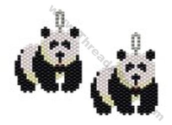 Large Panda Earring Bead Pattern By Threadabead