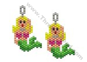 Mermaid Earring Bead Pattern By Threadabead