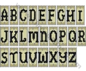 Free Beading Patterns Letter Pendant