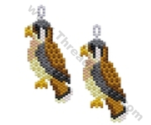 Kestrel Bird Earring Bead Pattern By Threadabead
