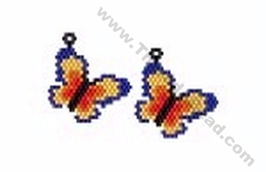 Butterfly Earrings Bead Pattern By Threadabead