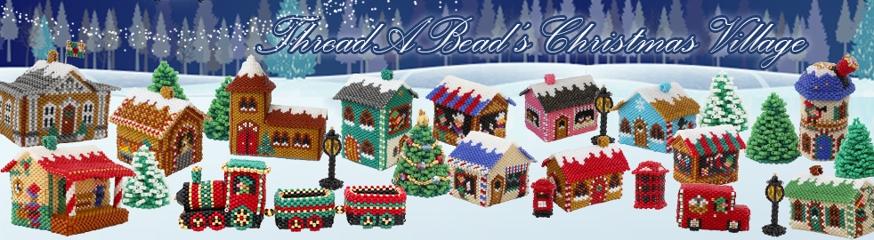 Gingerbread Bakery House from the ThreadABead Beaded Christmas Village