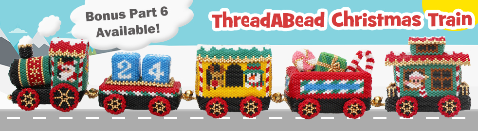 ThreadABead Christmas 2017 Project The Christmas Train Part 3