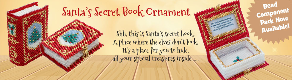 Santa Secret Book Bead Pattern