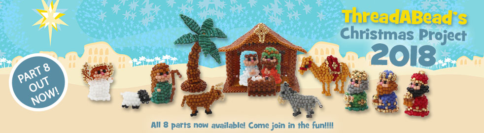 Mini Beaded Christmas Nativity By ThreadABead