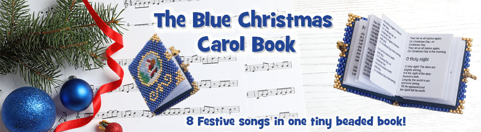 The Little Beaded Blue Book of Christmas Carols