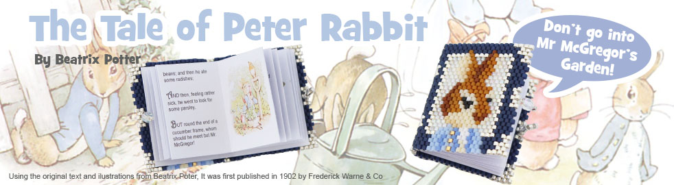 The Little Tale of Peter Rabbit Beaded Book Bead Pattern