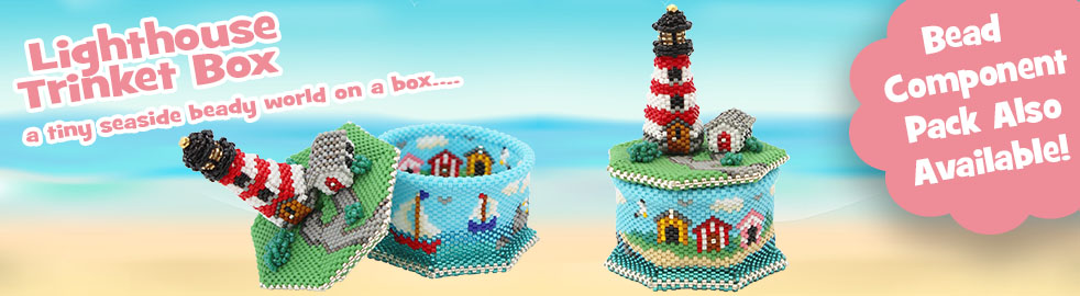 ThreadABead Lighthouse Trinket Box Component Pack
