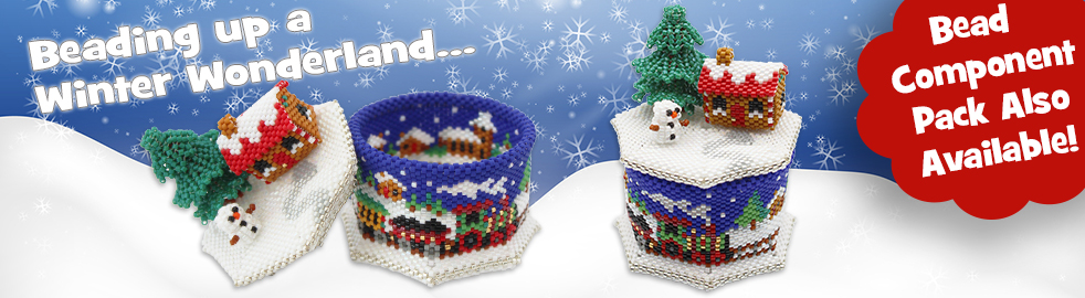 ThreadABead Winter Wonderland Trinket Box Bead Pattern
